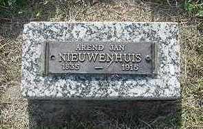 NIEUWENHUIS, AREND JAN - Sioux County, Iowa   AREND JAN NIEUWENHUIS