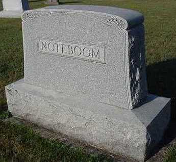 NOTEBOOM, HEADSTONE - Sioux County, Iowa | HEADSTONE NOTEBOOM