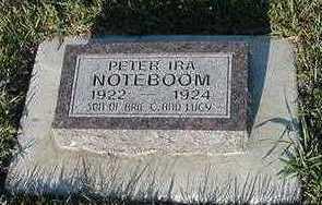 NOTEBOOM, PETER IRA - Sioux County, Iowa | PETER IRA NOTEBOOM