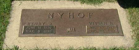 NYHOF, VIVIAN H. (MRS. HENRY R. ) - Sioux County, Iowa | VIVIAN H. (MRS. HENRY R. ) NYHOF
