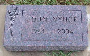 NYHOF, JOHN - Sioux County, Iowa   JOHN NYHOF