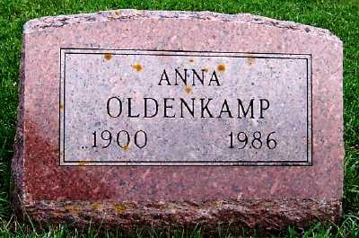 OLDENKAMP, ANNA - Sioux County, Iowa | ANNA OLDENKAMP