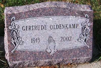 OLDENKAMP, GERTRUDE - Sioux County, Iowa   GERTRUDE OLDENKAMP