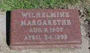OLIVIER, WILHELMINA MARGARETHE - Sioux County, Iowa   WILHELMINA MARGARETHE OLIVIER