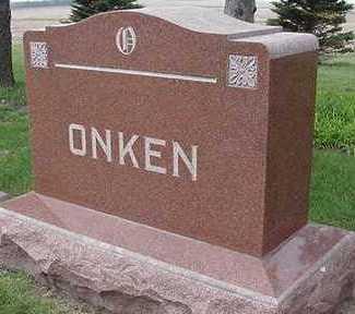 ONKEN, HEADSTONE - Sioux County, Iowa   HEADSTONE ONKEN