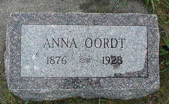 OORDT, ANNA - Sioux County, Iowa | ANNA OORDT