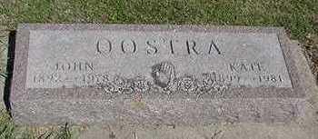OOSTRA, JOHN - Sioux County, Iowa | JOHN OOSTRA
