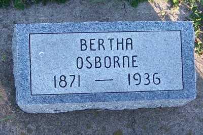 OSBORNE, BERTHA - Sioux County, Iowa   BERTHA OSBORNE