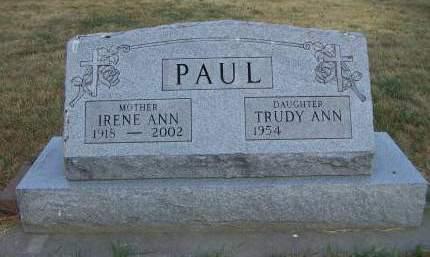 PAUL, IRENE ANN - Sioux County, Iowa | IRENE ANN PAUL