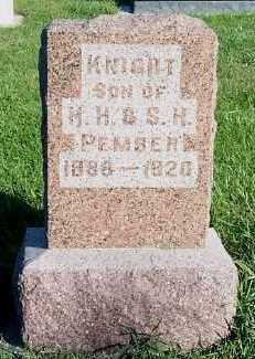 PEMBER, KNIGHT (SON OF H.H. & S.H.) - Sioux County, Iowa | KNIGHT (SON OF H.H. & S.H.) PEMBER