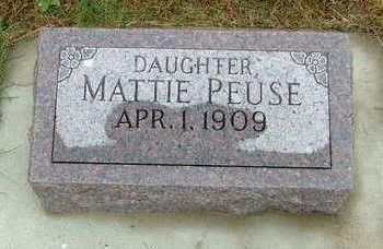 PEUSE, MATTIE - Sioux County, Iowa | MATTIE PEUSE