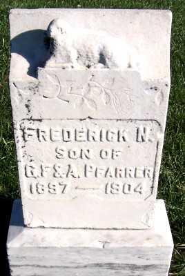 PFARRER, FREDERICK N. (1897-1904) - Sioux County, Iowa | FREDERICK N. (1897-1904) PFARRER