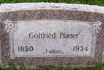 PFARRER, GOTTFRIED - Sioux County, Iowa | GOTTFRIED PFARRER