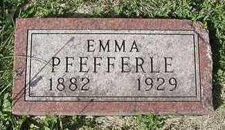 PFEFFERLE, EMMA - Sioux County, Iowa   EMMA PFEFFERLE