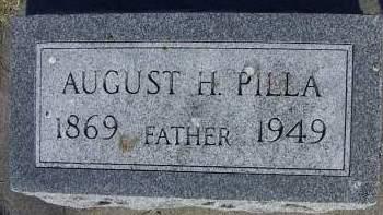 PILLA, AUGUST H. - Sioux County, Iowa   AUGUST H. PILLA