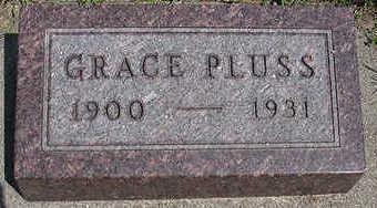 PLUSS, GRACE - Sioux County, Iowa   GRACE PLUSS