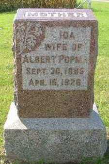 POPMA, IDA (MRS. ALBERT) - Sioux County, Iowa   IDA (MRS. ALBERT) POPMA