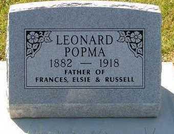 POPMA, LEONARD - Sioux County, Iowa   LEONARD POPMA