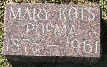 KOTS POPMA, MARY - Sioux County, Iowa | MARY KOTS POPMA