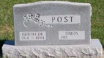 POST, GERTRUDE - Sioux County, Iowa | GERTRUDE POST