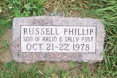 POST, RUSSELL PHILLIP - Sioux County, Iowa | RUSSELL PHILLIP POST