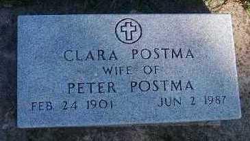 POSTMA, CLARA (MRS. PETER) - Sioux County, Iowa | CLARA (MRS. PETER) POSTMA