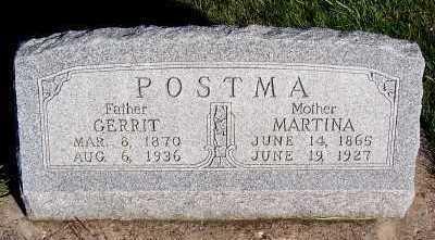 POSTMA, GERRIT - Sioux County, Iowa   GERRIT POSTMA