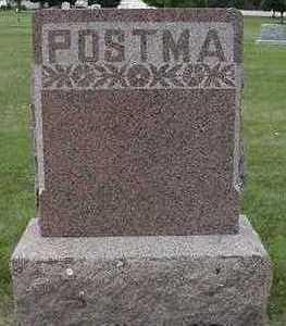 POSTMA, HEADSTONE - Sioux County, Iowa   HEADSTONE POSTMA