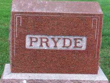 PRYDE, FAMILY HEADSTONE - Sioux County, Iowa   FAMILY HEADSTONE PRYDE