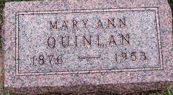 QUINLAN, MARY ANN - Sioux County, Iowa | MARY ANN QUINLAN