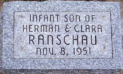RANSCHAU, INFANT SON OF HERMAN & CLARA - Sioux County, Iowa   INFANT SON OF HERMAN & CLARA RANSCHAU