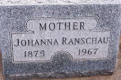RANSCHAU, JOHANNA - Sioux County, Iowa   JOHANNA RANSCHAU
