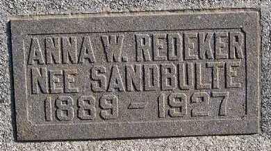 REDEKER, ANNA W. - Sioux County, Iowa | ANNA W. REDEKER