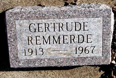 REMMERDE, GERTRUDE - Sioux County, Iowa   GERTRUDE REMMERDE