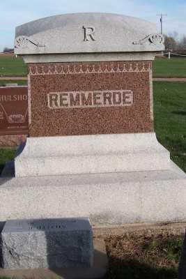 REMMERDE, HEADSTONE - Sioux County, Iowa | HEADSTONE REMMERDE