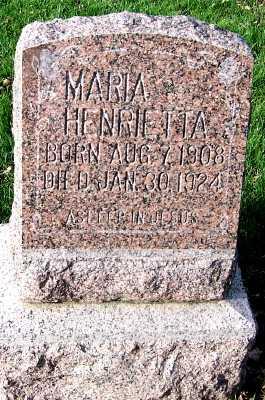 REMMERDE, MARIA HENRIETTA - Sioux County, Iowa | MARIA HENRIETTA REMMERDE