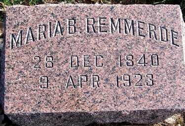 REMMERDE, MARIA B. - Sioux County, Iowa | MARIA B. REMMERDE
