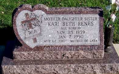 BOXRUD RENES, KARI BETH (MRS. JERRY) - Sioux County, Iowa   KARI BETH (MRS. JERRY) BOXRUD RENES