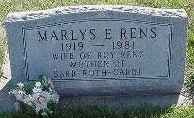 RENS, MARLYS E. - Sioux County, Iowa | MARLYS E. RENS