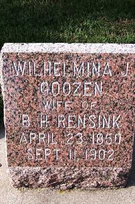 GOOZEN RENSINK, WILHELMINA J. (MRS. B.H.) - Sioux County, Iowa | WILHELMINA J. (MRS. B.H.) GOOZEN RENSINK
