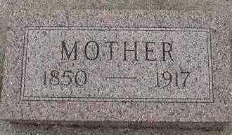 RHYNSBURGER, MOTHER  D. 1917 - Sioux County, Iowa | MOTHER  D. 1917 RHYNSBURGER