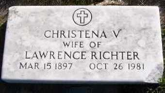 RICHTER, CHRISTENA V. (MRS. LAWRENCE) - Sioux County, Iowa | CHRISTENA V. (MRS. LAWRENCE) RICHTER