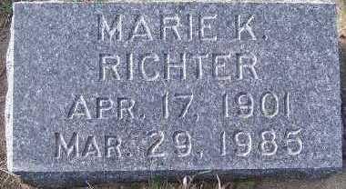 RICHTER, MARIE K. - Sioux County, Iowa   MARIE K. RICHTER
