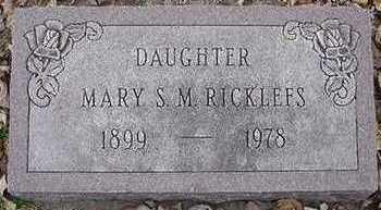 RICKLEFS, MARY S. M. - Sioux County, Iowa | MARY S. M. RICKLEFS