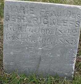RICKLEFS, MARIE (MRS. GERD) - Sioux County, Iowa | MARIE (MRS. GERD) RICKLEFS