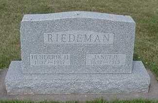 RIEDEMAN, JANETJE - Sioux County, Iowa | JANETJE RIEDEMAN