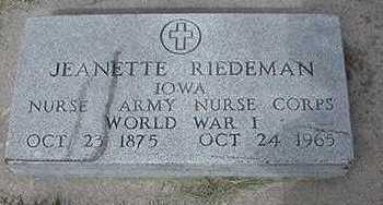 RIEDEMAN, JEANETTE - Sioux County, Iowa | JEANETTE RIEDEMAN