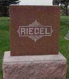 RIEGEL, HEADSTONE - Sioux County, Iowa | HEADSTONE RIEGEL