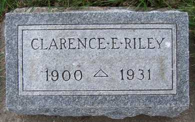 RILEY, CLARENCE E. - Sioux County, Iowa | CLARENCE E. RILEY