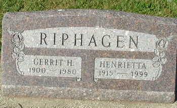 RIPHAGEN, GERRIT H. - Sioux County, Iowa | GERRIT H. RIPHAGEN